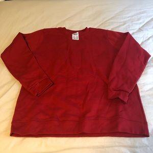 Adidas Red Crewneck Sweatshirt L